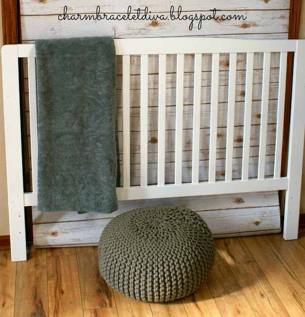 slatted crib painted bed headboard