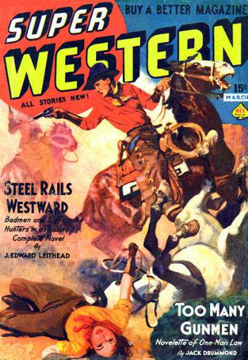 Rough edges february 2013 saturday morning western pulp super western march 1938 fandeluxe Image collections