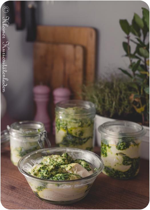 Bärlauch-Pestobrot im Glas