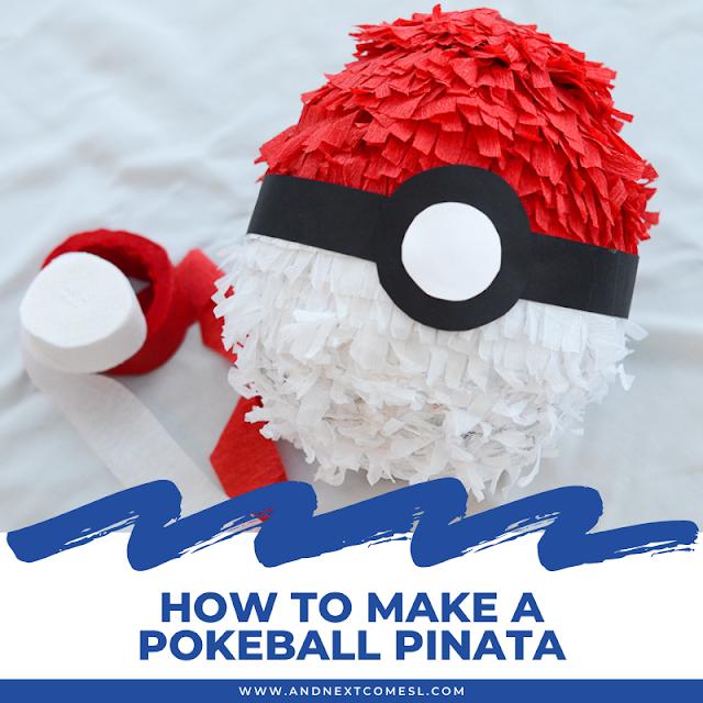 How to make a DIY pokeball pinata