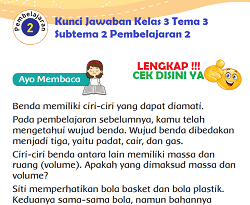 Kunci Jawaban Kelas 3 Tema 3 Subtema 2 Pembelajaran 2 www.simplenews.me