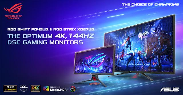ASUS Republic of Gamers anuncia a disponibilidade dos primeiros monitores gaming do mundo com Display Stream Compression