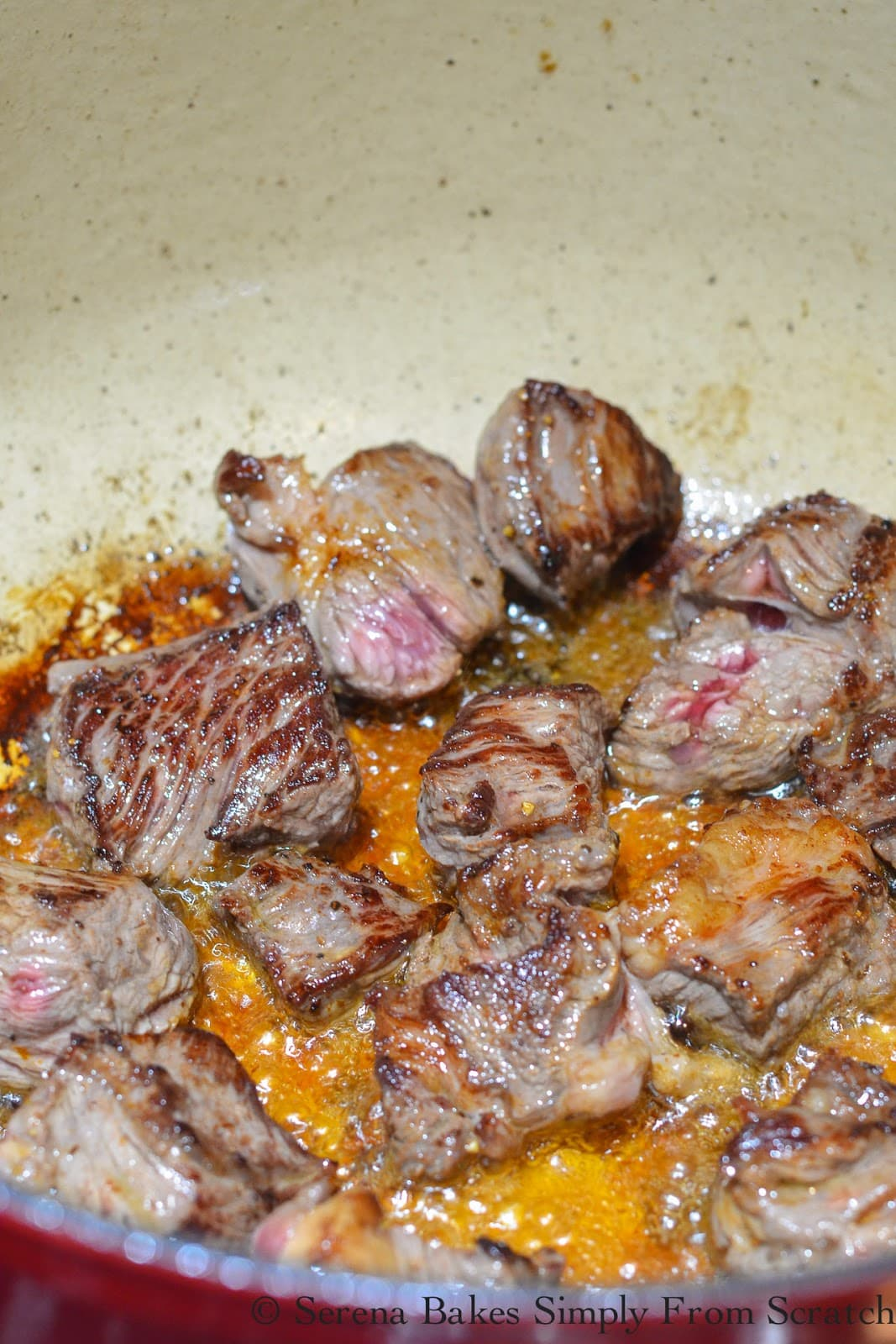 Brown Beef Stew meat for Guinness Beef Stew Recipe.