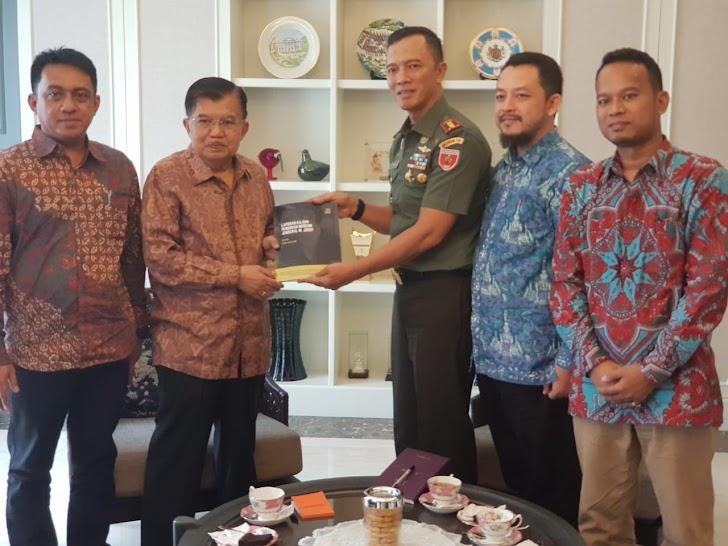 Danrem 141/Tp, Pimpin Tim Penyusun Story Line Temui Wapres Jusuf Kalla