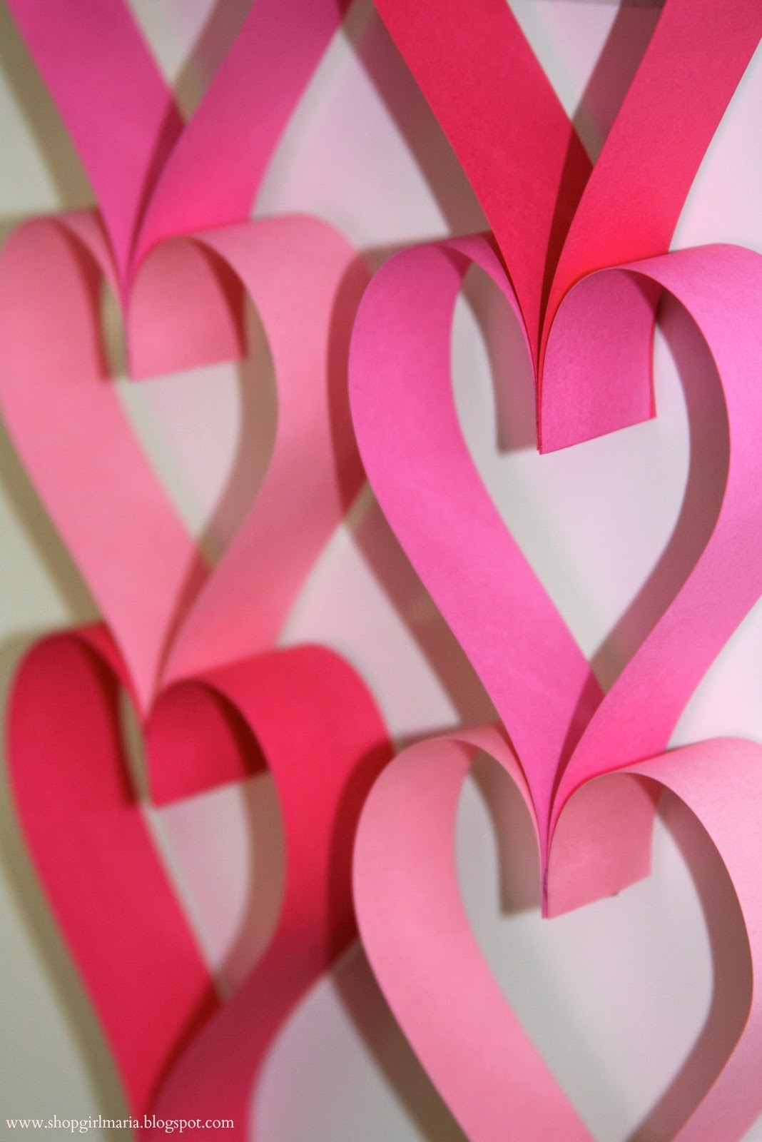 Valentine's Day Paper Garlands