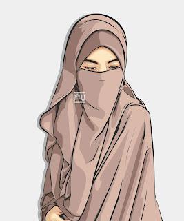 wanita  muslim memakai cadar