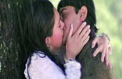 karishma kapoor talk how she kissed Aamir khan in raja hundustani