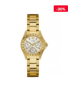 Ceas femei auriu elegant Guess Impulse W0938L2