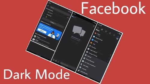 Cara aktifkan facebook dark mode