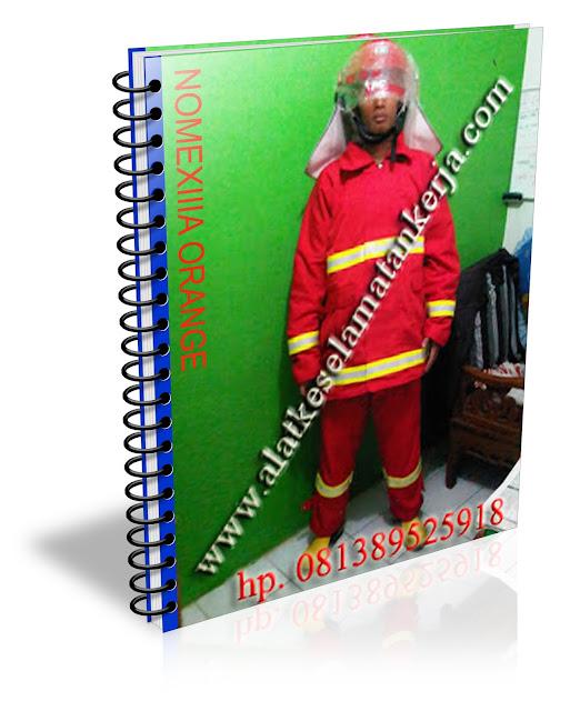 Baju Pemadam Kebakaran warna Orange Nomex