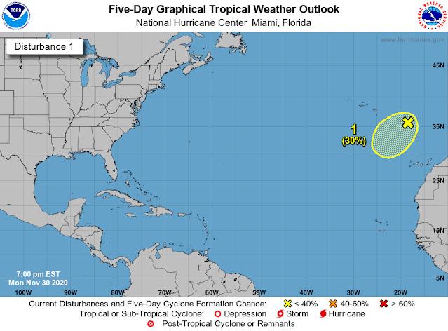 Finaliza oficialmente la temporada de huracanes 2020 en el Atlántico