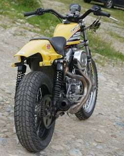 dark dog sportster tracker by udo meuthen back side right angle