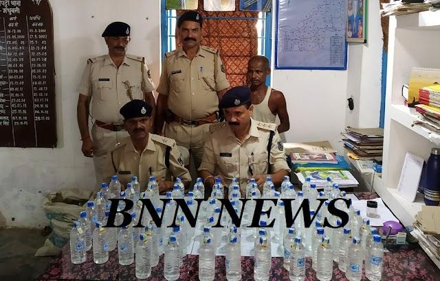 लदौत से पुलिस ने बरामद किए 142 बोतल नेपाली शराब