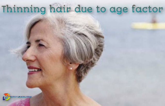 thinning hair due to age factor