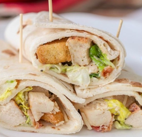 CHICKEN CAESAR WRAPS #healthydiet #lunch