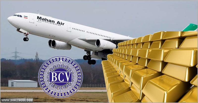 Aviones que han llegado de Irán se han llevado lingotes de Oro del BCV
