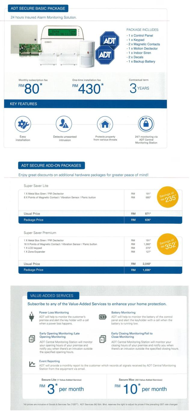 Adt Packages Pricing