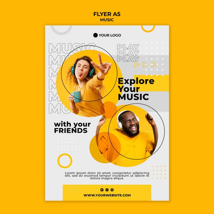 Explore Your Music With Friends Flyer Template