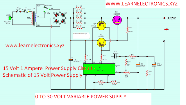Make a 0 to 30 Volt Variable Power Supply 3 Ampere.