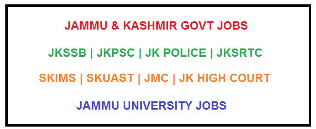 Latest Jobs in J&K    Jammu & Kashmir Latest Govt Jobs 2018 Notifications-जम्मू-कश्मीर