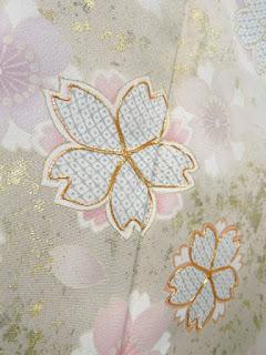 金駒刺繍の桜