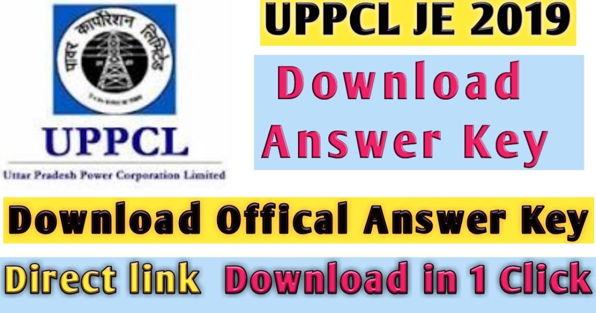 UPPCL JE Answer key 2019