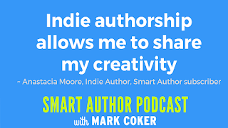 "image reads:  ""Indie authorship allows me to share my creativity"""