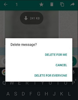 select Delete for everyone