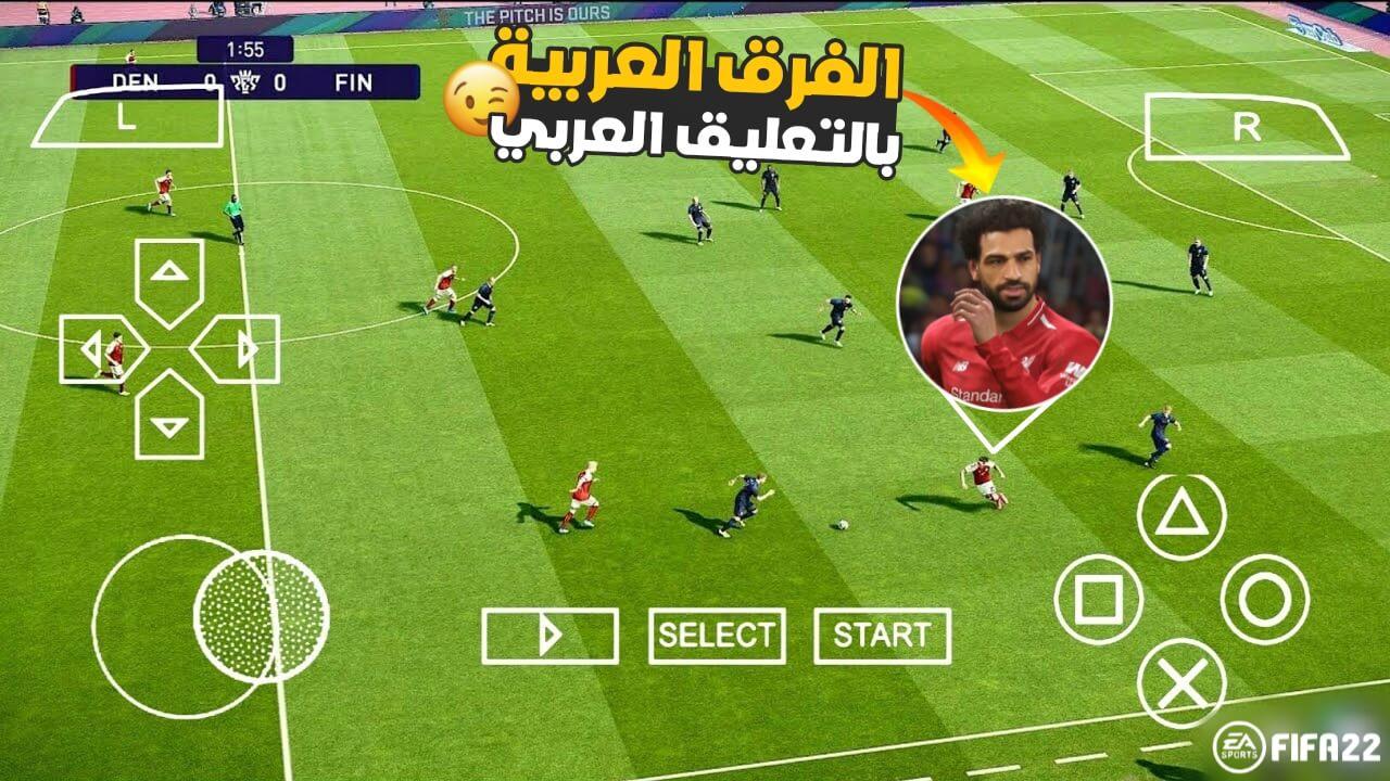 اخيرا تحميل لعبة FIFA 22 للاندرويد PPSSPP بحجم 500MB من ميديافاير بدون نت بأخر الانتقالات والاطقم واللعيبة   FIFA 22 PPSSPP