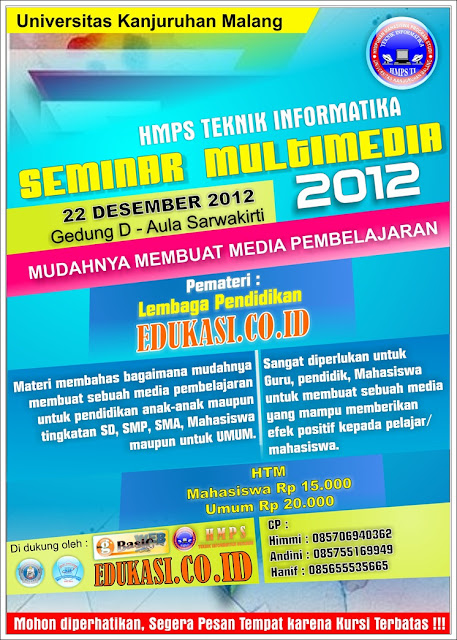 Gratis Download Contoh Poster Seminar CDR