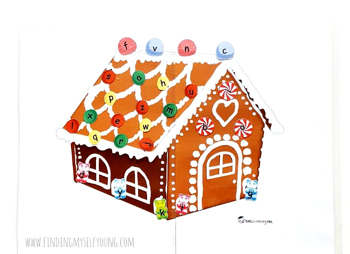christmas gingerbread house letter printable