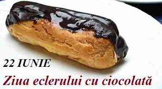 22 iunie: Ziua eclerului cu ciocolată