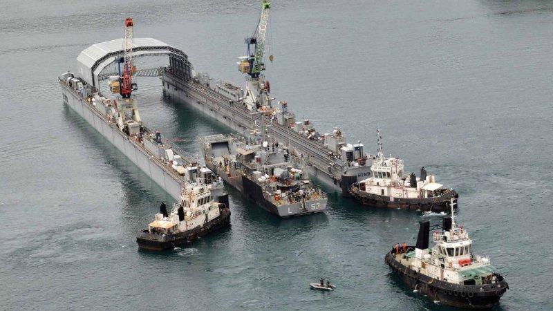 Indian Navy Floating Dock - FDN-2 - Larsen & Toubro L&T - 001 - TN