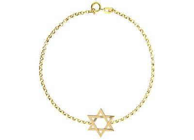 Pulseira Estrela de Davi Ouro 18 k