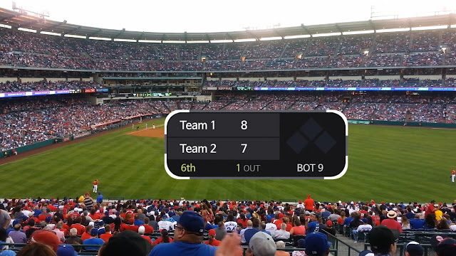 baseball scoreboard motion graphic is released. You can add team name, socre, innings, and out counts.