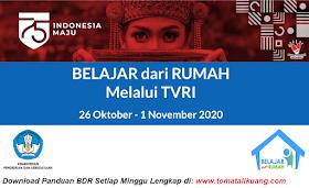 Download Panduan Belajar Dari Rumah BDTR TVRI 26 Oktober - 1 November 2020 PDF