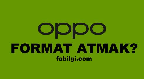 Oppo Telefonlarda Format Nasıl Atılır? Hard Reset Reno 2z, A5 S