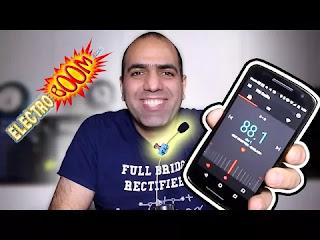 صورة لمهندس كهرباء قام بصناعة راديو افم