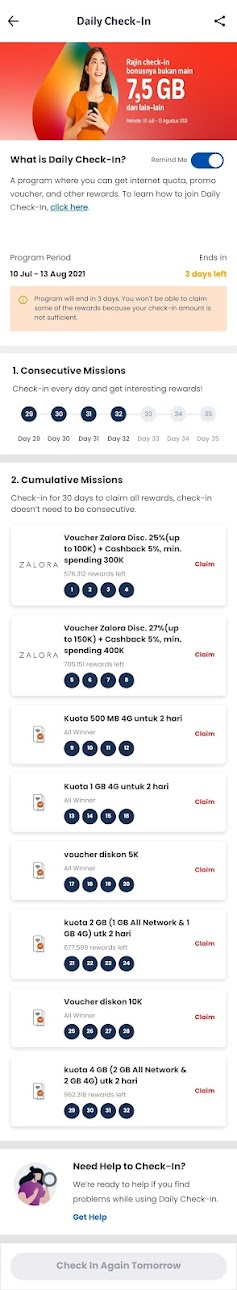 Daily+Check+in+MyTelkomsel+Complete