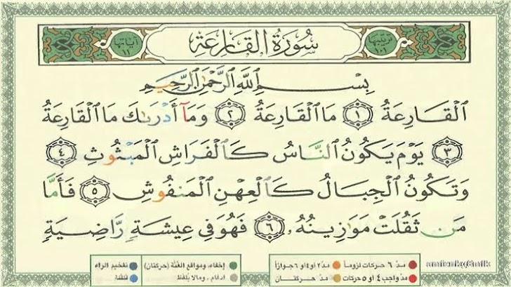 Surat Al Qori'ah, Arab Latin Dan Terjemahan