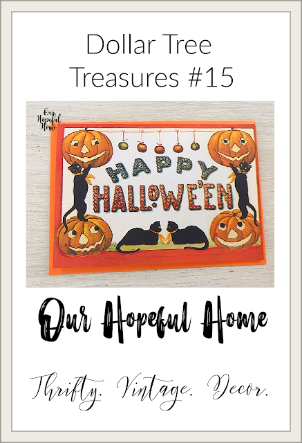 Happy Halloween greeting card Dollar Tree Treasures #15