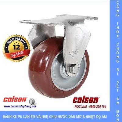 Giá bánh xe càng inox 304 Colson Caster Mỹ Tạ Uyên www.banhxeday.xyz