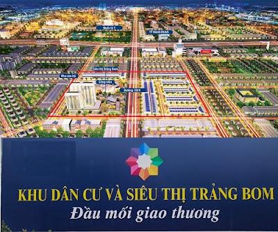 mua bán nhà đất dự án Khu dân cư và siêu thị Trảng Bom