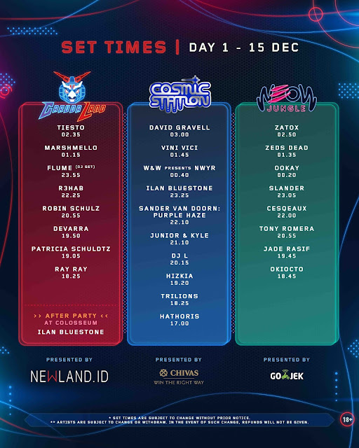 List lineup dwp 2017