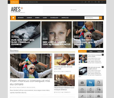 Download Ares Stylish Magazine Blogger Template