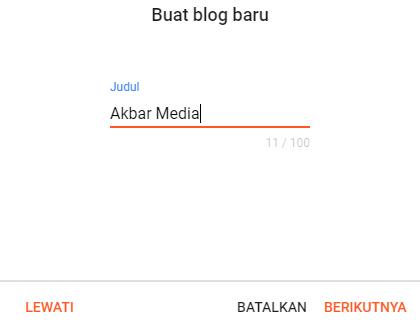 Cara Buat Blog Gratis Di Blogspot Versi Terbaru