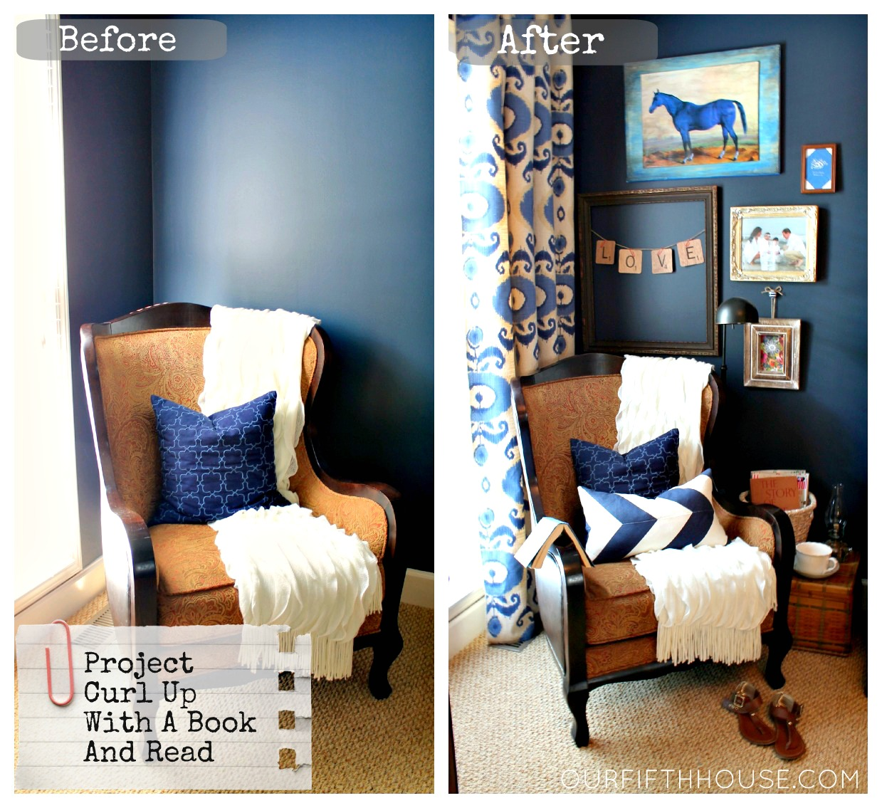 Mom\'s Reading Nook- A.K.A. My New Favorite Corner of The House ...