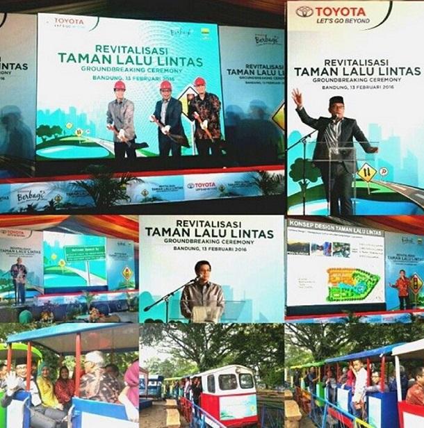 Toyota Gelontorkan 9 Miliar Untuk Revitalisasi Taman Lalu Lintas Bandung