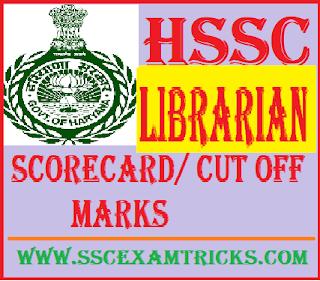 HSSC Librarian Scorecard/ Cut off