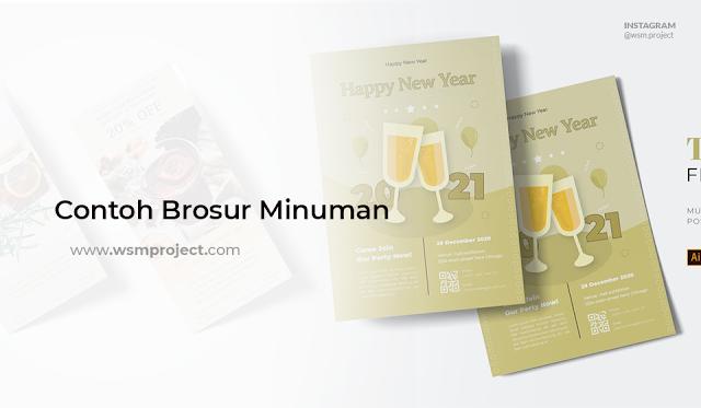 Contoh Brosur Minuman simple